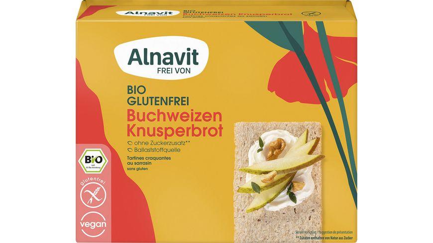 Alnavit Bio Knusperbrot Buchweizen - glutenfrei
