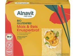 Alnavit Bio Knusperbrot Mais Reis glutenfrei