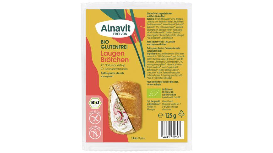 Alnavit Bio Laugenbrötchen - glutenfrei