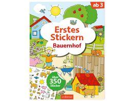 Buch Ars edition Erstes Stickern Bauernhof