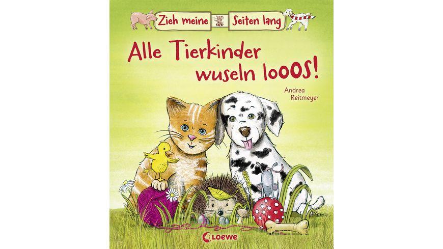 Buch Loewe Zieh meine Seiten lang Alle Tierkinder wuseln los