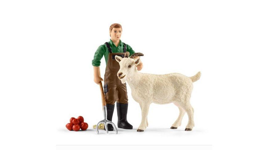Schleich Farm World Bauer mit Ziege