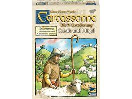 Hans im Glueck Strategiespiele Carcassonne Schafe und Huegel 9 Erweiterung