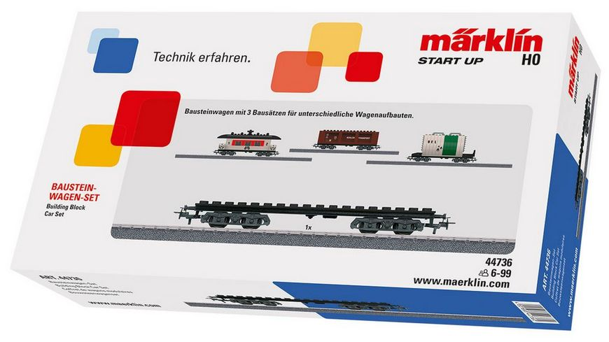 Maerklin 44736 Bausteinwagen Set