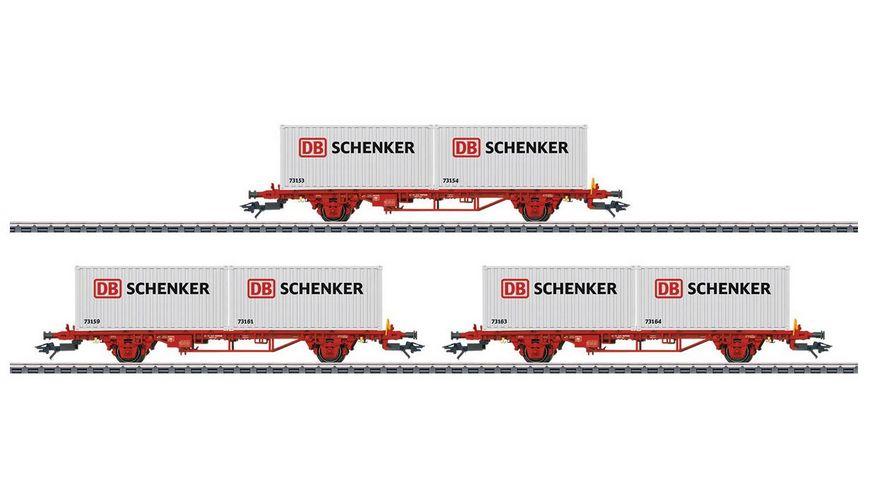 Maerklin 47725 Container Tragwagen Set Lgs