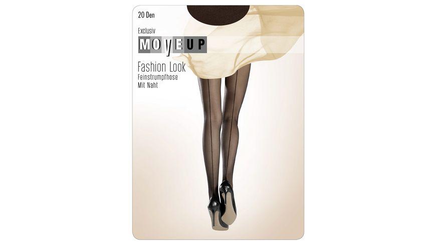 MOVE UP Damen Feinstrumpfhose mit Naht 20 DEN