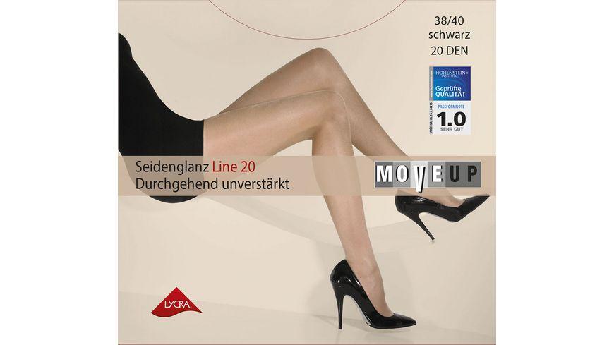 MOVE UP Damen Feinstrumpfhose Seidenglanz Line 20 DEN