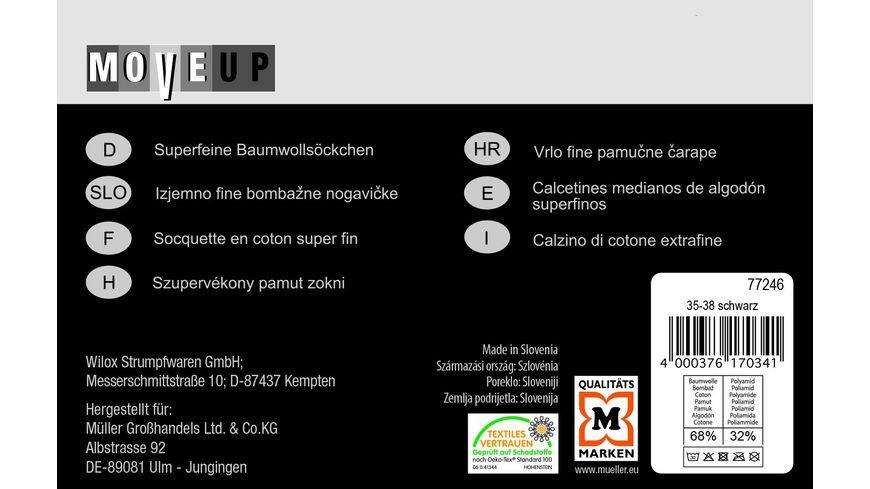 MOVE UP Baumwollsoeckchen Superfein mit Rollrand