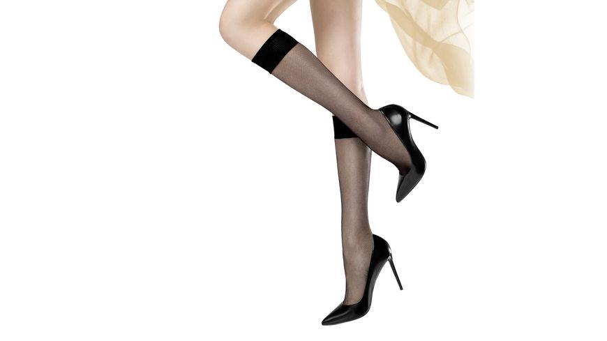 MOVE UP Damen Kniestruempfe in Netzoptik Feines Netz