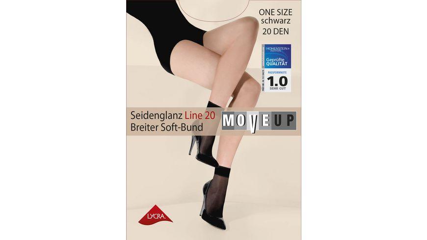 MOVE UP Damen Soeckchen Seidenglanz Line 15 DEN