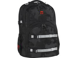 TAKE IT EASY Schulrucksack Oslo Flex Camouflage Black