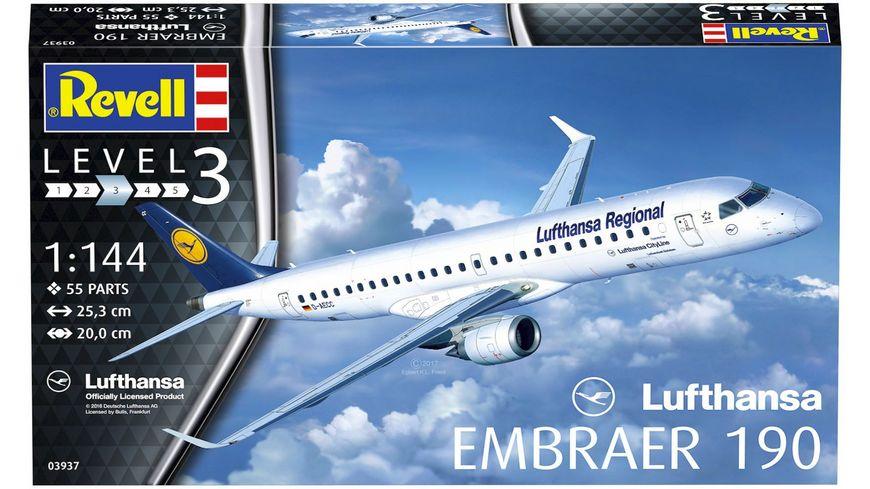 Revell 03937 Embraer 190 Lufthansa