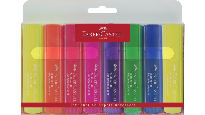 FABER-CASTELL Textmarker 8er-Etui Promotion 6+2