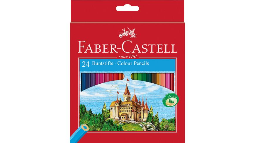 FABER CASTELL Farbstift Eco 24er Kartonetui