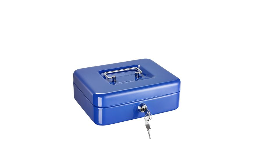 ALCO Geldkassette blau 20x16x6 5cm