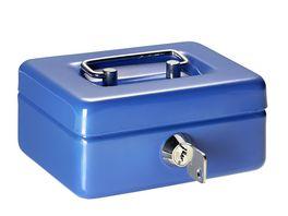 ALCO Geldkassette fuer Kinder blau 12 5 x 9 5 x 6 cm