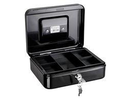 ALCO Geldkassette schwarz 20 x 16 x 6 5 cm