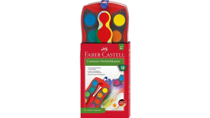 FABER-CASTELL Farbkasten Connector 12er-Kasten
