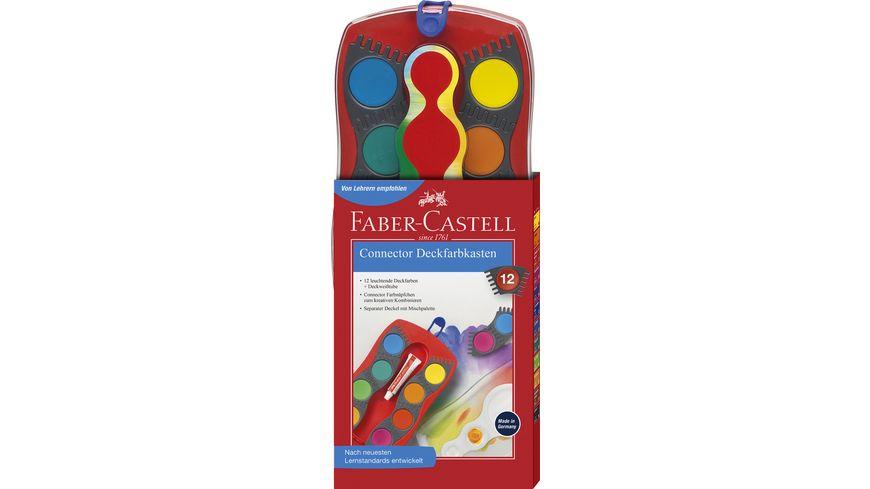 FABER CASTELL Farbkasten Connector 12er Kasten