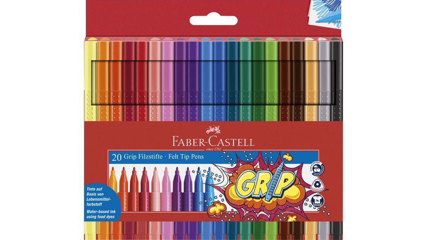 FABER CASTELL Fasermaler Grip Colour Marker 20er Etui