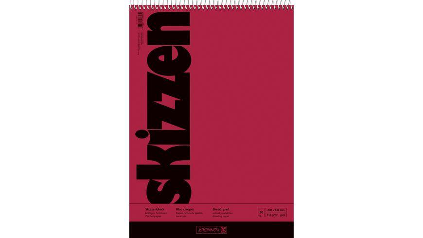 BRUNNEN Skizzenblock A4 50 Blatt mit Spirale