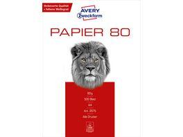 AVERY Zweckform Kopierpapier Eco A4 80g m 500 Blatt