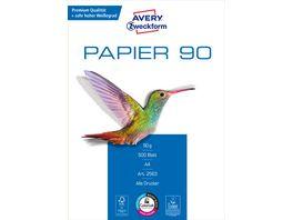 AVERY Zweckform Kopierpapier A4 90g m 500 Blatt