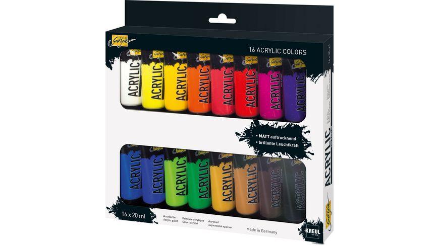 KREUL Solo Goya Acrylfarbe 20 ml Tuben 16er Set