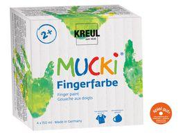 KREUL Mucki Fingerfarbe 4er Set