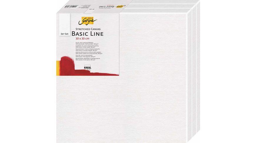 KREUL SOLO GOYA Keilrahmen 3er Set Basic Line 30 x 30 cm