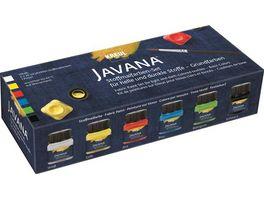 KREUL Javana Stoffmalfarben fuer helle und dunkle Stoffe 6er Set Grundfarben