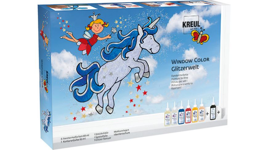 KREUL Hobby Line Window Color Glitzerwelt