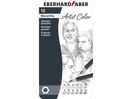 EBERHARD FABER Zeichenbleistifte 12tlg Metalletui