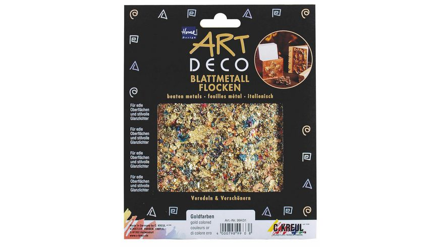 KREUL Art Deco Blattmetalle Flocken Metallic-Mix 2 g
