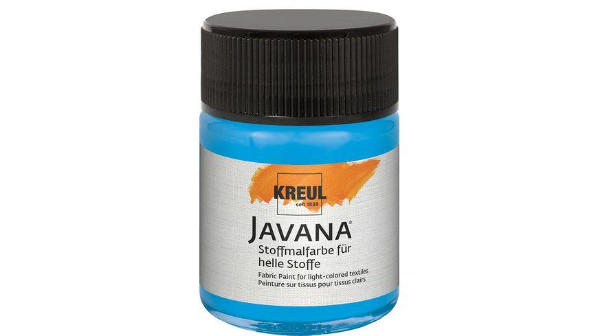 KREUL Javana Stoffmalfarbe fuer helle Stoffe 50 ml