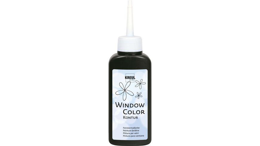 KREUL Window Color Konturenfarbe Schwarz 80 ml