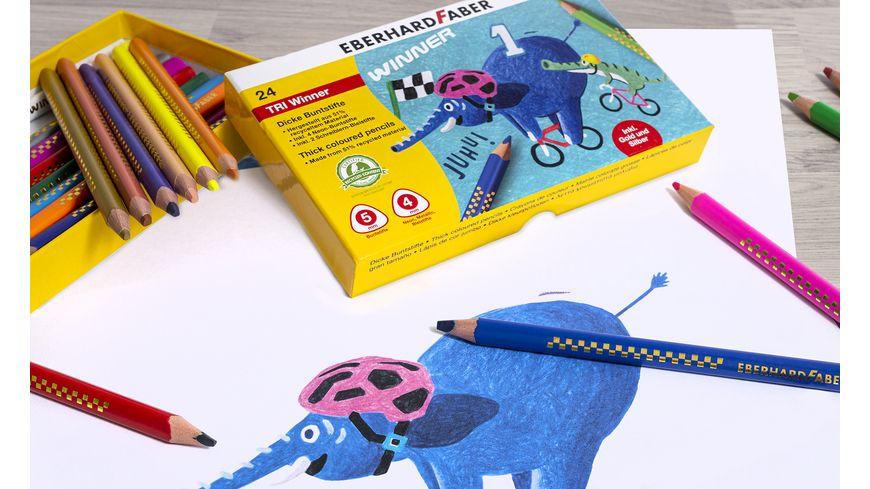 EBERHARD FABER Buntstift TRI Winner 24er Kunststoffbox