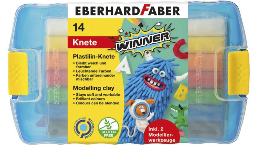 EBERHARD FABER Plastilin Knete 10er Kunststoffbox