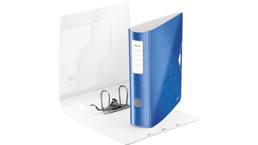 LEITZ Ordner Active WOW breit A4 blau