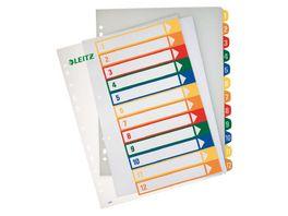 LEITZ Kunststoffregister Zahlen 1 12