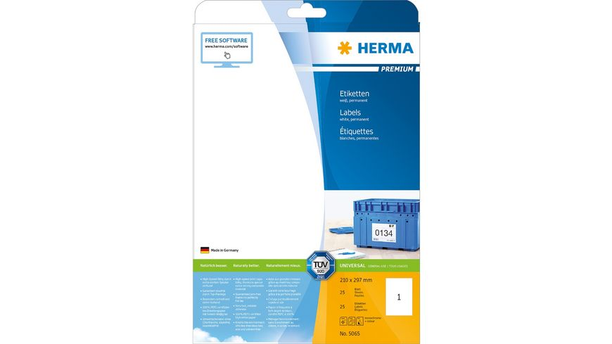 HERMA Etiketten A4 25 Stueck
