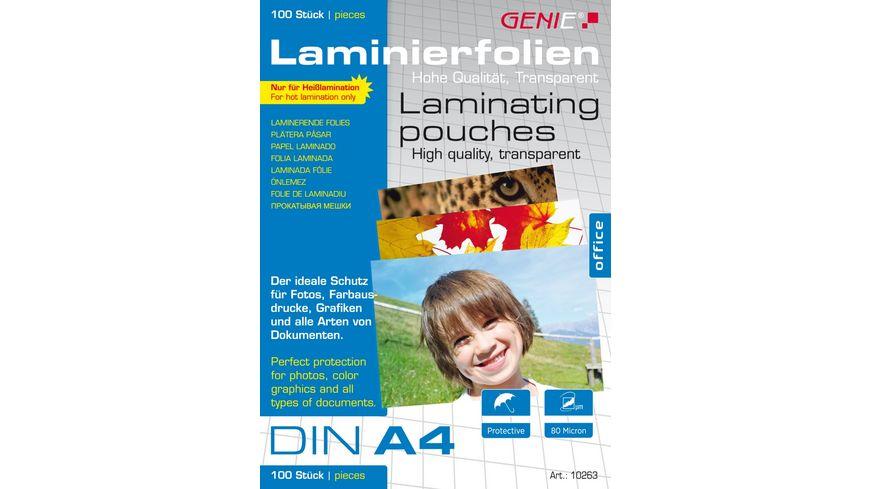 GENIE Laminierfolien DIN A4 100er Pack