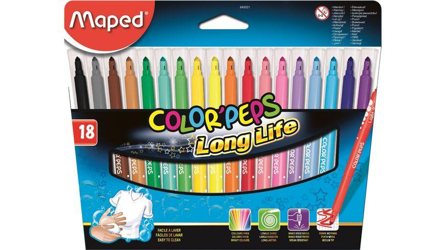 Maped Fasermaler Color Peps Long Life 18er Etui