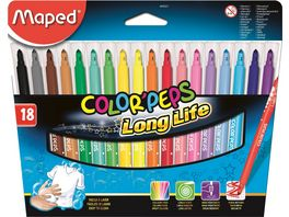 Maped Filzstifte Color Peps Long Life 18er Etui
