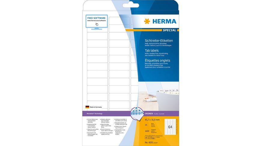 HERMA Etiketten für Sichtreiter Movables 46 x 17mm