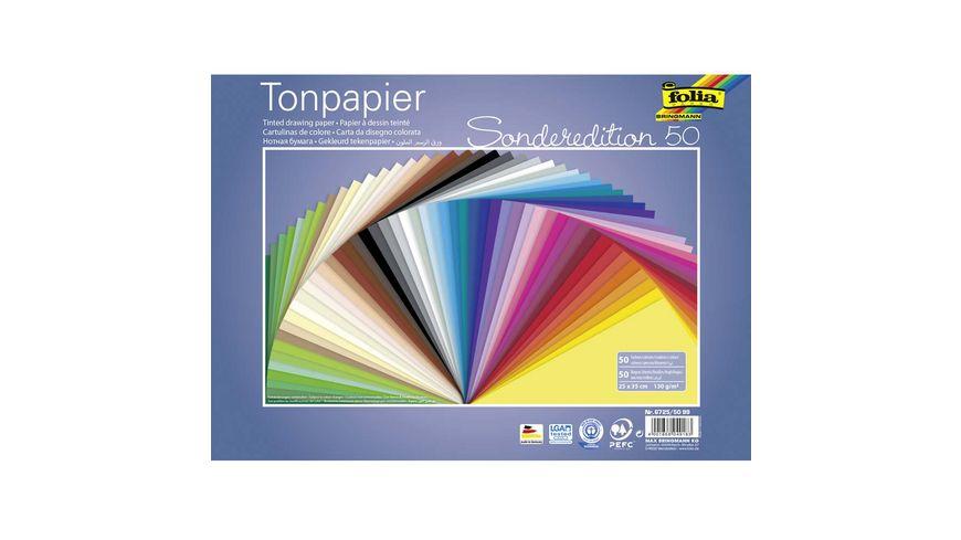 folia Tonpapier 50 Boegen 25 x 35 cm