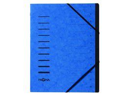 PAGNA Ordnungsmappe 12tlg blau