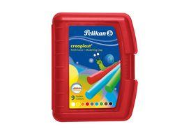 Pelikan Wachsknete Creaplast 9 Farben in roter Box