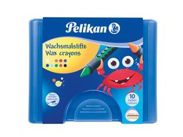 Pelikan Wachsmalstifte in Schiebehuelse 10er Box