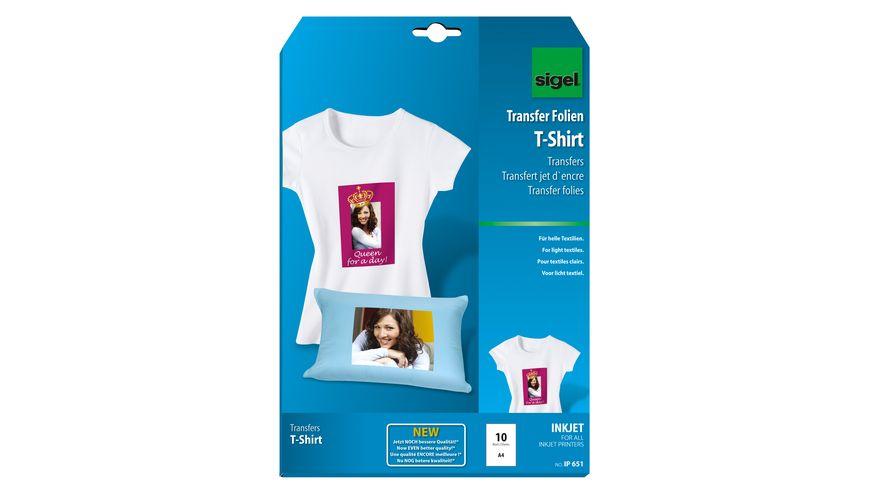 sigel InkJet Transfer Folien fuer T Shirts